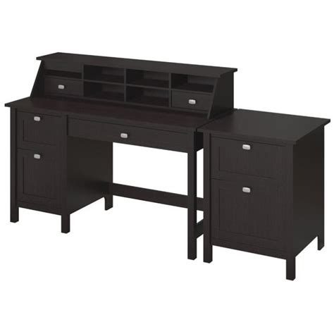 computer desk with 2 file drawers bush broadview computer desk with 2 drawer file cabinet in