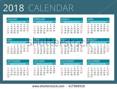 Qatar Calend 2018 2018 Calendar Stock Images Royalty Free Images Vectors