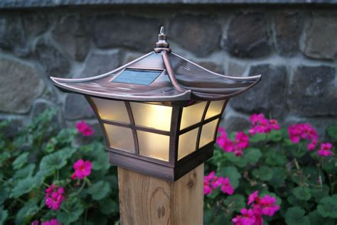 fence post lights solar 4x4 copper electroplated ambience solar post cap led deck