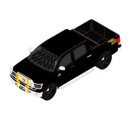 road pick  truck cadblocksfree cad blocks
