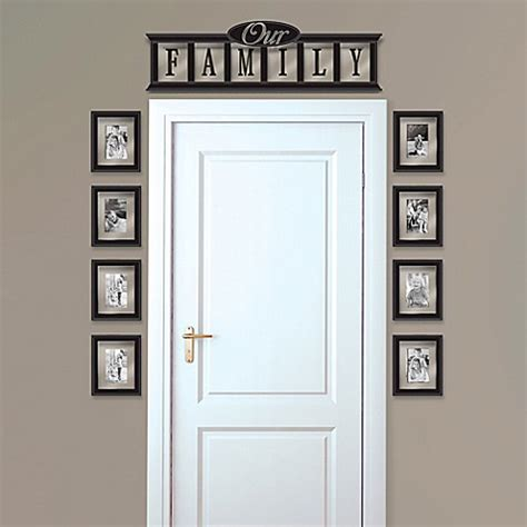 9 piece family tree wall photo frame set hanging frames wall solutions quot our family quot 9 piece frame set www