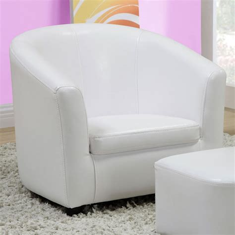 white chair and ottoman set piccoli juvenile club chair and ottoman set white dcg
