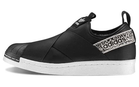 Slip On Reborn adidas superstar slip on black shoes aw lab