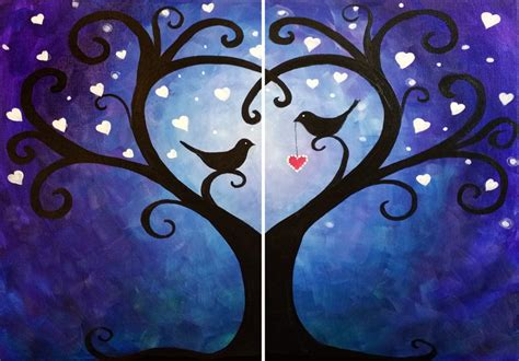 paint nite for couples couples and singles paint moonlight hearts