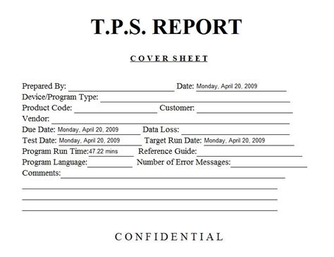 tps report template quality engineering report template quality free engine