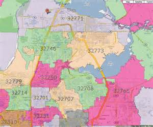orlando florida zip codes map orlando zip code map