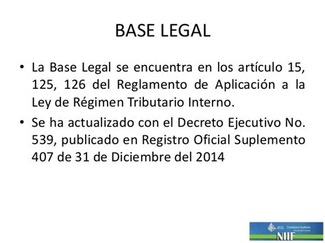 reglamento a la ley de regimen tributario interno ao 2014 no aplica sustituida jul 2015 res nac dgercgc15 00000509