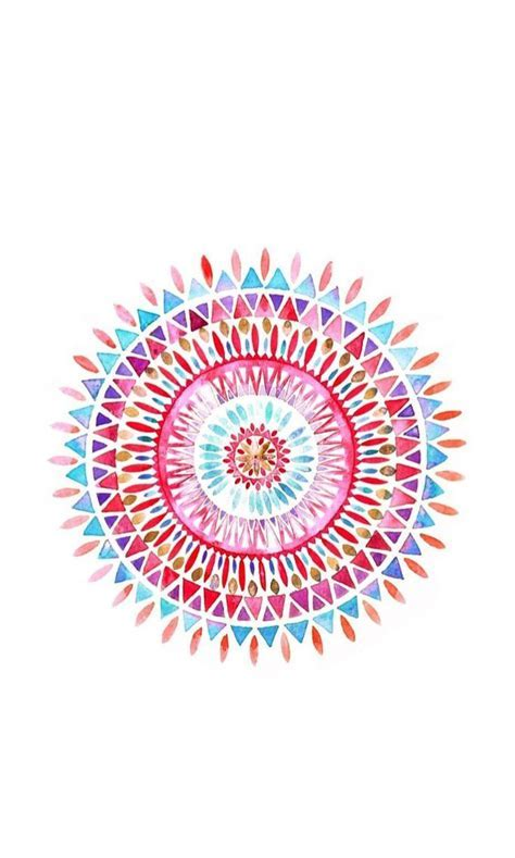 Mandala ? Find more watercolor Android   iPhone wallpapers