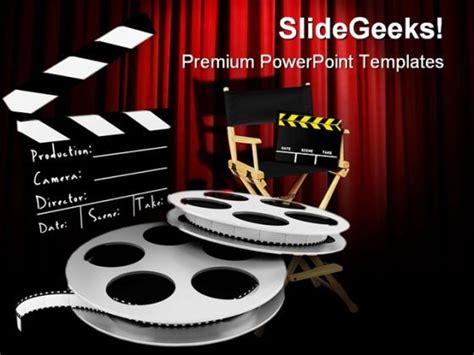 powerpoint themes movie movies director entertainment powerpoint templates and