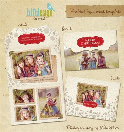 Luxe Cards Templates by Folded Luxe Card Template Vintage E233