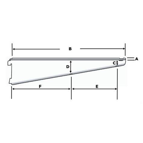 Bracket Shelving System Db170s Sapphire Slot Shelving Bracket 170mm Silver