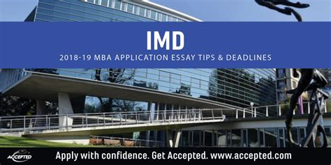 Imd Switzerland Executive Mba by Accepted Admissions