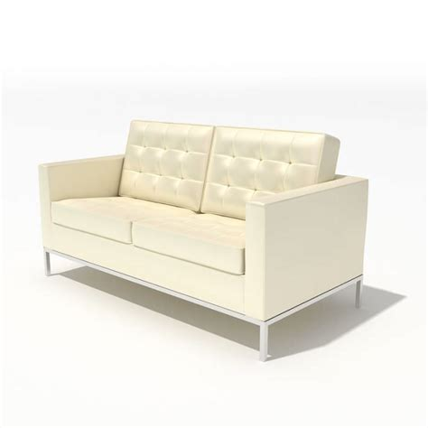 modern style small white sofa 3d model cgtrader