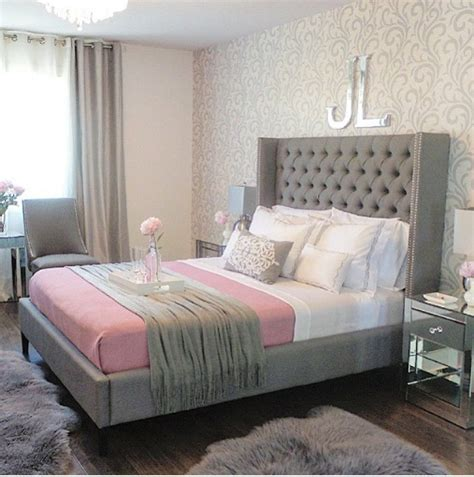 gray and pink bedroom lush fab glam blogazine pretty in pink home decor