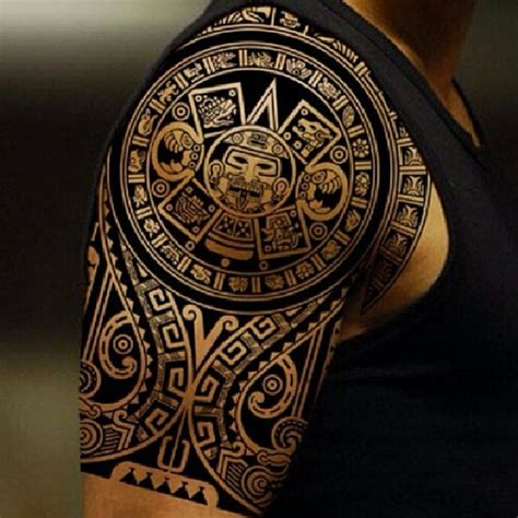 aztec calendar tattoo design 40 aztec designs for and