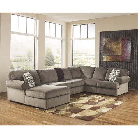 Used Sectional Sofas Sale by Jessa Place 3 Polyester Sectional In Dune