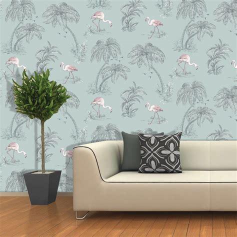holden flamingo lake wallpaper feature wall decor duck egg