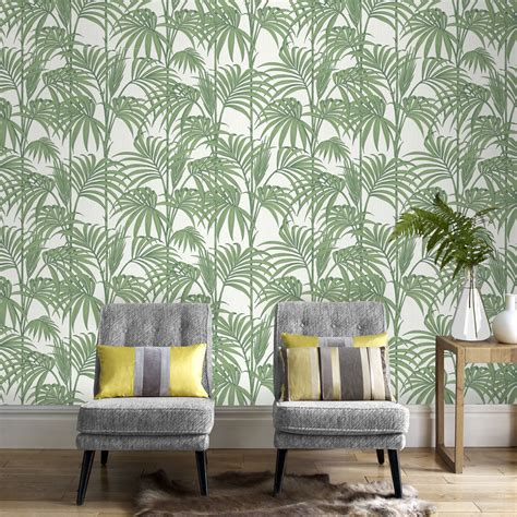 green wallpaper graham and brown honolulu palm green graham brown