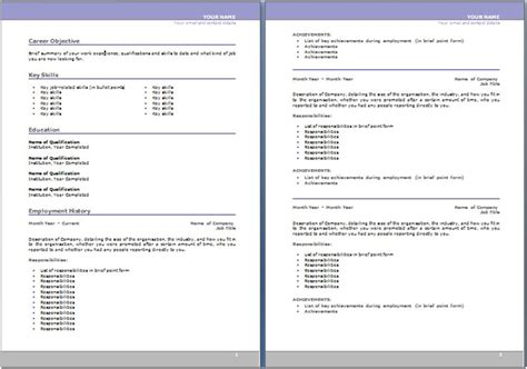 Resume Australia Sample – Resume Example: 55 CV Template Australia CV Format In Word