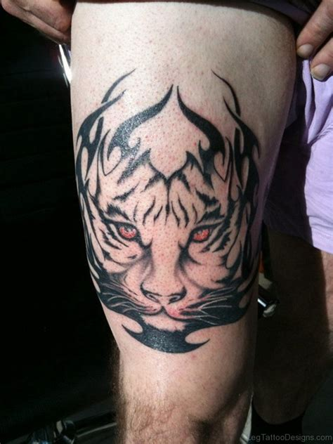 tribal tiger tattoos for men 53 fantastic tribal tattoos on thigh