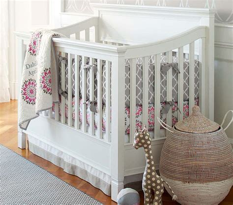 Dahlia Nursery Bedding Set Pottery Barn Dahlia Collection Modern Baby Bedding Without A Princess In Sight Popsugar