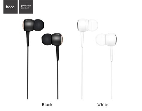 Hoco M19 Earphone With Mic hoco m19 noise cancelling heavy bass wired 3 5mm in ear earphone earbuds with mic for xiaomi