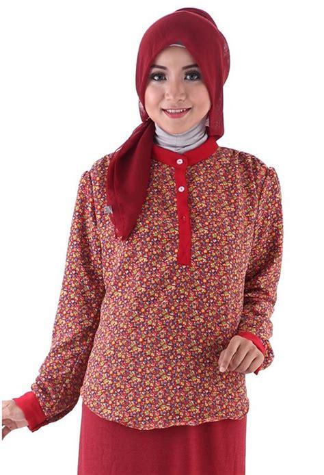 Foto Baju Muslim gambar model baju batik muslim terbaru 2015