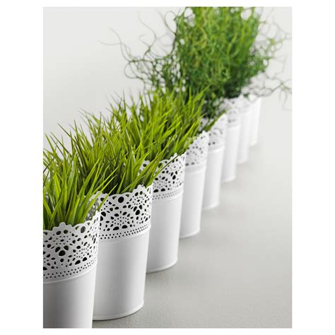ikea plants skurar plant pot in outdoor white 10 5 cm ikea