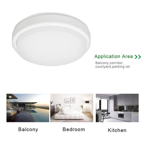 Jnc F 567 led ceiling light ip54 bathroom flushmount 45w equivalent