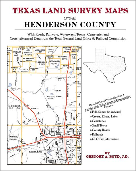 texas land survey maps henderson county texas land survey maps genealogy history 9781420351804 ebay