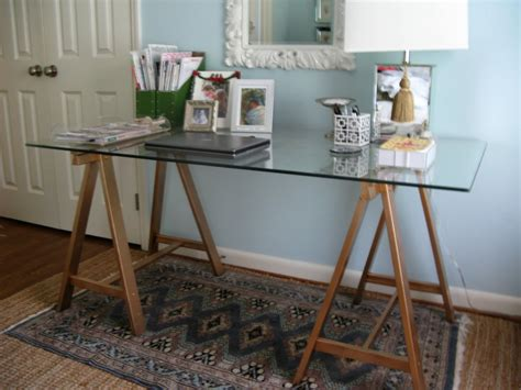 Diy Ikea Desk Matters Of Style Ikea Hack Diy Quot Brass Quot Sawhorse Desks