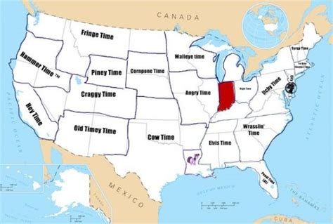 map of us time zones during daylight savings give the united states 19 time zones neatorama