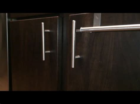 how to install handles on kitchen cabinets how to install kitchen cabinet door handles youtube
