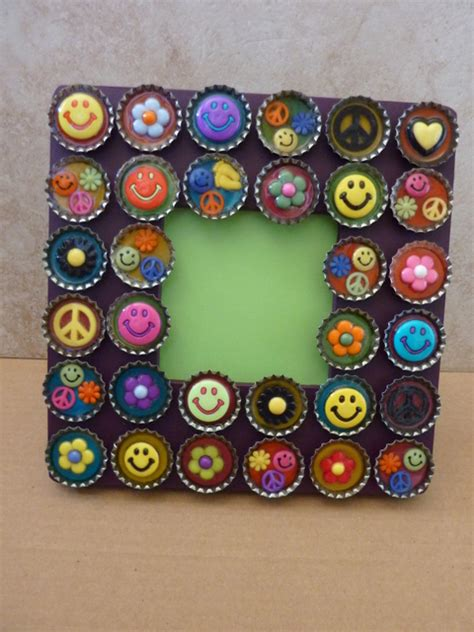 bottle cap craft ideas for diy recycled projects for home decor