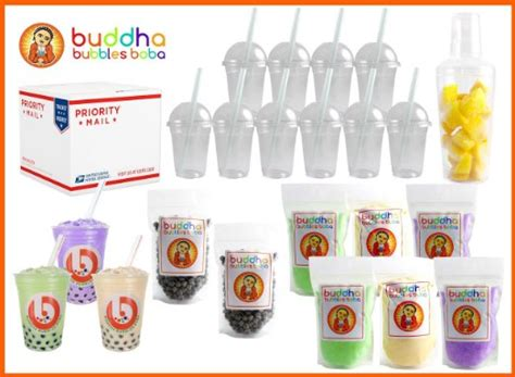 buy the ultimate diy boba bubble tea kit 60 drinks 6 flavors boba pearls cups straws and