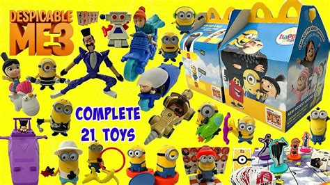 Minion Rocket Racer 2017 mcdonalds despicable me 3 set of 21 happy meal minions toys unboxing review