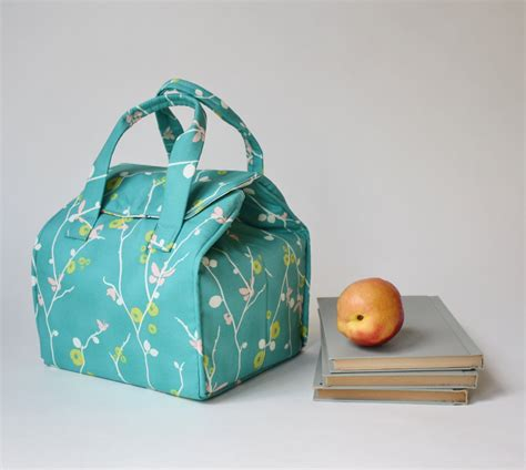 Insulated Lunch Bag insulated lunch bag in rapture fabric by pat bravo