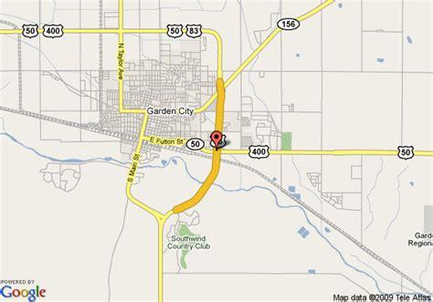 garden city kansas map map of best western baron motor inn garden city