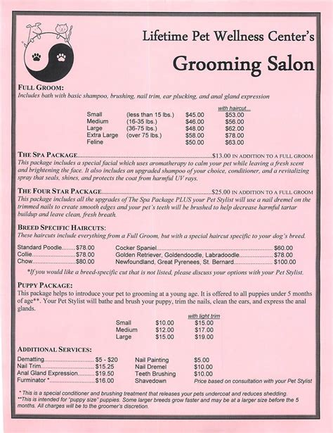 petsmart grooming prices 1000 ideas about grooming salon on pet