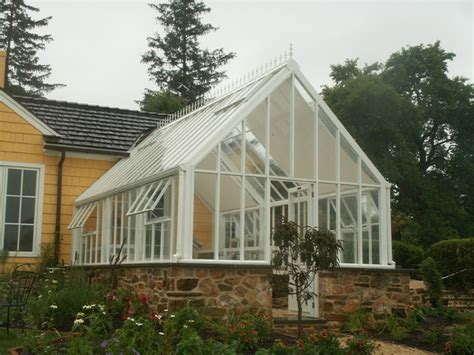 House Plans With Greenhouse Attached Greenhouse Glasshouse Attached To Home Traditional Greenhouses By
