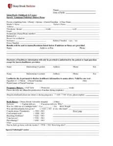 case history form for speech pathology fill online