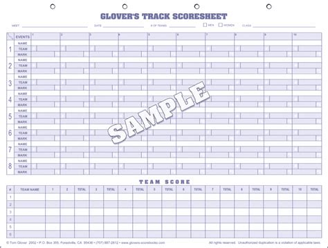 track meet relay card template s track field scorebooks