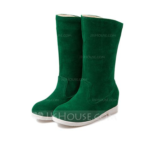 s suede flat heel boots snow boots shoes 088109381