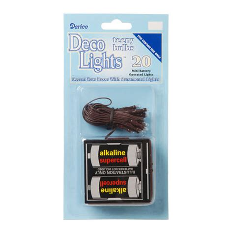 deco lights brown wire 20 light strand battery rice deco lights brown wire clear