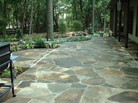 flagstone patio diy landscaping