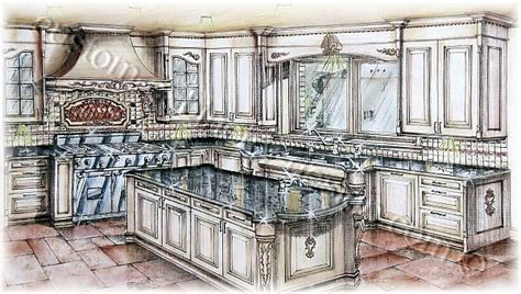 Custom Painted Kitchen Cabinets by Cabinetry 3d Rendering Kitchen Design Perspective