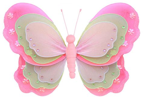 Butterfly Decorations Large Dark Pink Green Pink Hanging Butterfly Decorations For Nursery