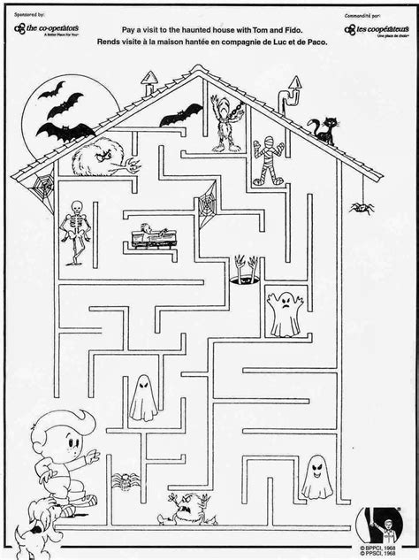 halloween coloring pages mazes 6 halloween maze easy