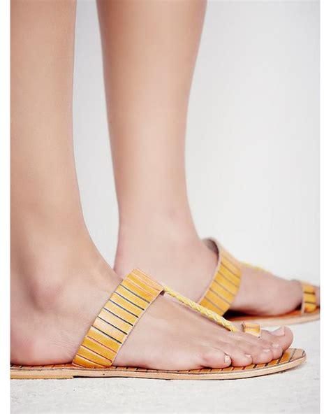 sandals bora bora free bora bora slip on sandal in yellow lyst