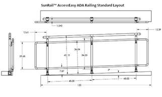 Stairway Handrail Height Code Sunrail Accesseasy Ada Handicap Accessibility Railings